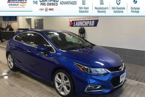 2018 Chevrolet Cruze Premier R/S LEATHER HEATED SEATS AND STEERING WHEEL, REMOTE START,  - $132.54 B/W