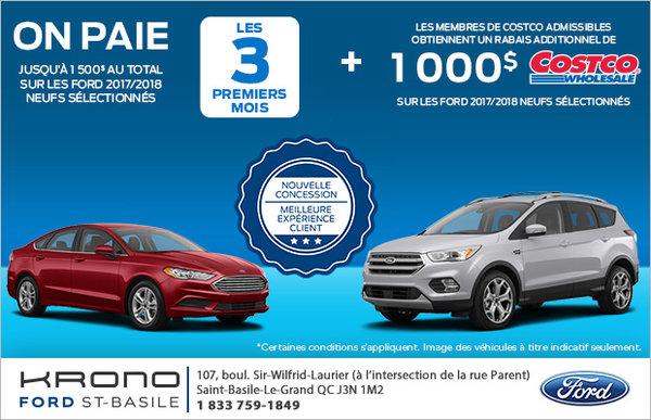 Procurez-vous une nouvelle Ford!