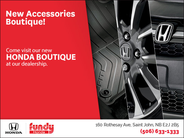 New Accessories Boutique at Fundy Honda!