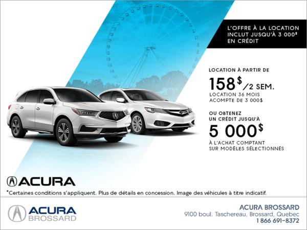L'événement mensuel d'Acura!
