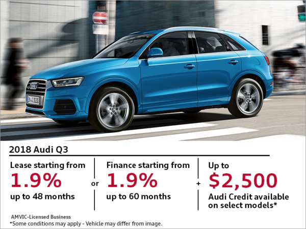 Get the 2018 Audi Q3 Today - Glenmore Audi Promotion in Calgary