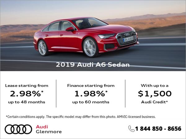 Get the 2019 Audi A6 Sedan Today!