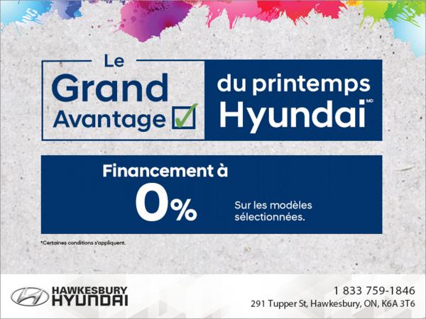 Grand avantage du printemps Hyundai
