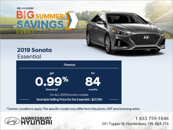 Finance the 2019 Sonata!