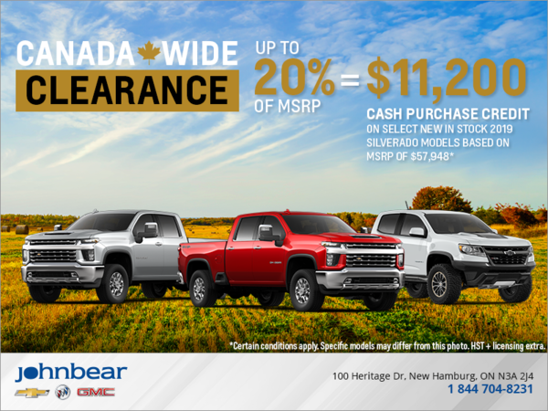 The Chevrolet Canada Wide Clearance Event!
