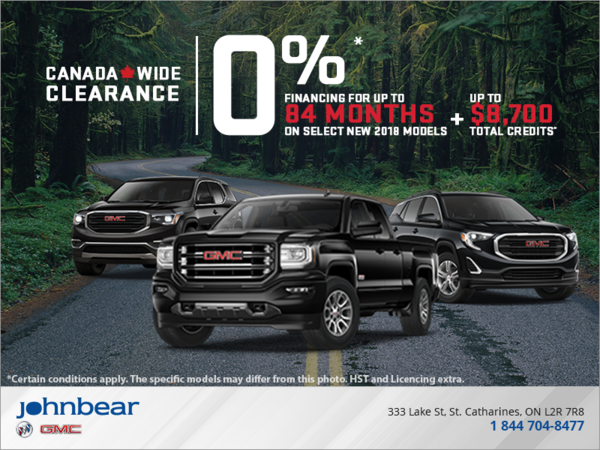 2018 Canada Wide Clearance