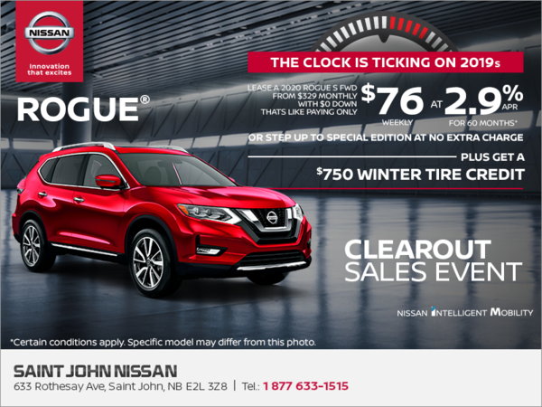 Saint John Nissan >> Get The 2020 Nissan Rogue Today Saint John Nissan