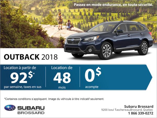 Obtenez la Outback 2018!