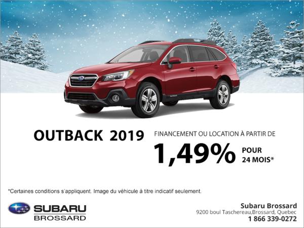 Procurez-vous le Outback 2019!