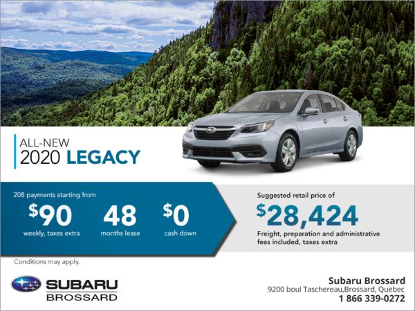 Lease The All New 2020 Subaru Legacy Today Subaru Brossard