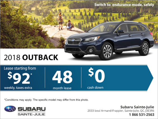 Get the 2018 Outback today!