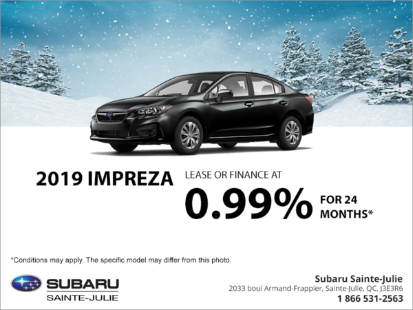 Get the 2019 Impreza 4-door today!