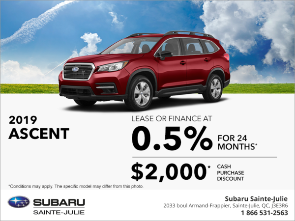 Get the 2019 Ascent today!