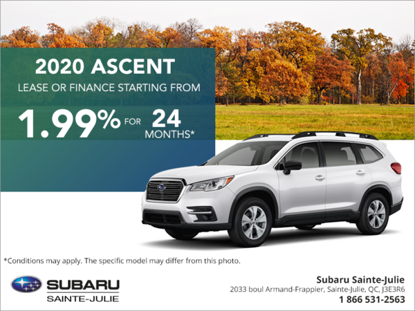 Get the 2020 Ascent today!