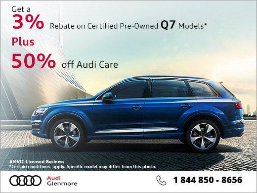 Get 50% off Audi Care!
