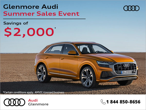 Glenmore Audi Summer Sales Event
