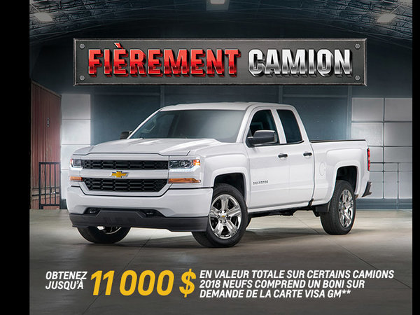 Promotion Chevrolet Mai 2018