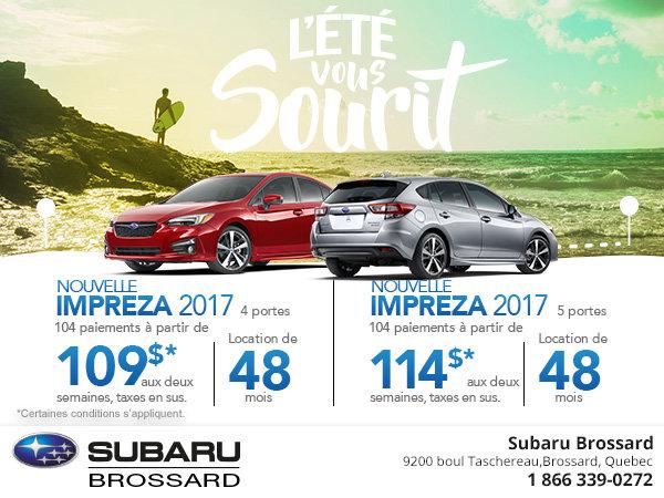 Découvrez la Subaru Impreza 4 et 5 portes 2017