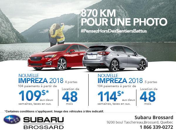 Découvrez la Subaru Impreza 4 et 5 portes 2018