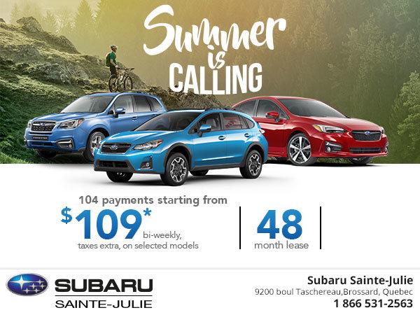Summer is Calling at Subaru!