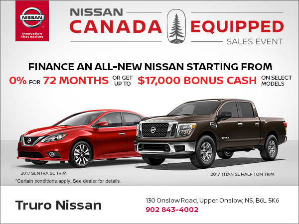 Nissan's Canada Equipped Sales Event
