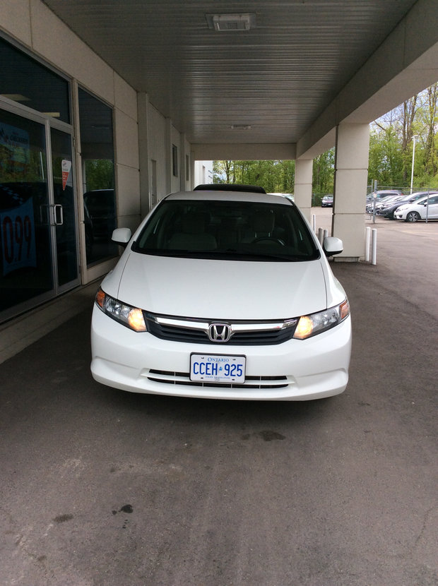 2012 White Honda Civic!