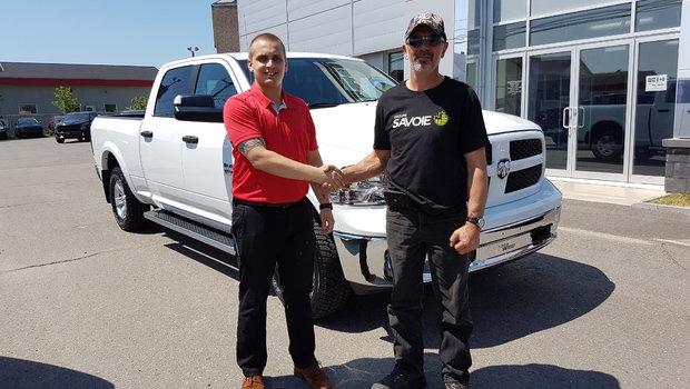 Merci au groupe Savoie inc de St-Quentin au Nouveau-Brunswick pour l'achat de leur Ram 1500 outdoorsman 2018. Comme quoi le garage Windsor est partout. Bonne route.
