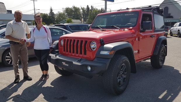 Merci à Mme Mélanie Lepage pour l'achat de son tout nouveau Jeep Wrangler 2018.