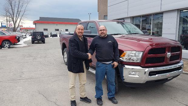 Merci à M. et Mme. Gilles Cloutier pour l'achat de son tout nouveau Ram 2500 ainsi qu'à sa fidèle clientèle.
