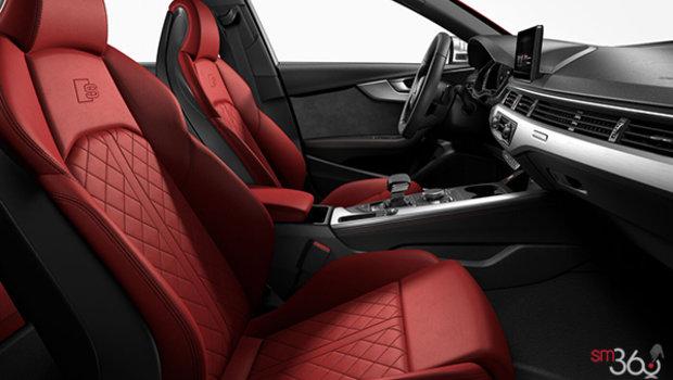 Magma Red Nappa Leather w/Granite Grey Stitching