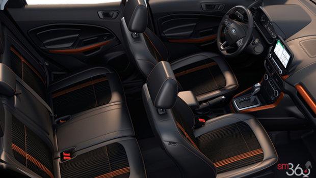 Ebony Black Partial Leather/Cloth