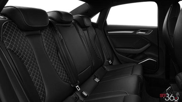 Black fine nappa leather with Rock grey stitching