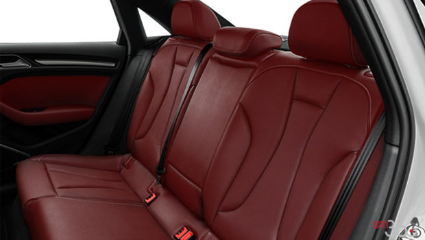 Magma red leather with Anthracite stitching