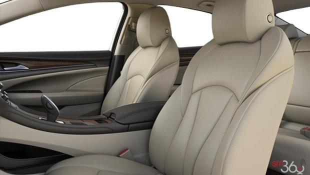 Sièges en cuir perforé neutre clair avec garnitures contrastantes intérieures brun foncé (HIA-A51)