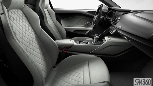 Pastel Silver Nappa Leather Sport Seats/Rock Gray Diamond Stitch