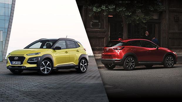 2018 Hyundai Kona vs. 2019 Mazda CX-3 in Lachine