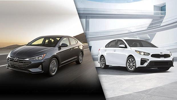 Hyundai Elantra 2019 vs Kia Forte 2019 à Montréal