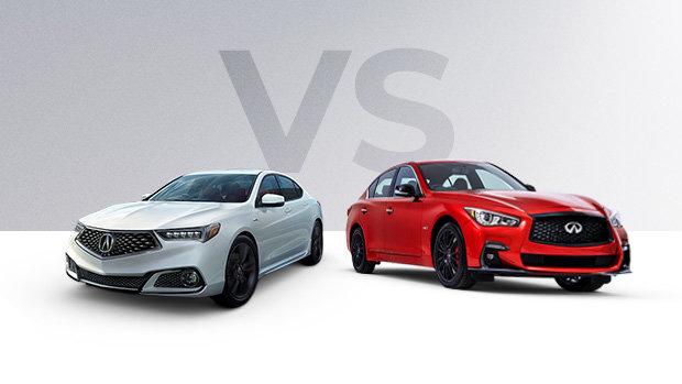 2019 Acura TLX vs 2019 Infiniti Q50 in Montreal