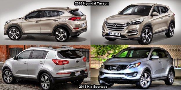 Kia Sportage 2016 vs Hyundai Tucson 2016 à St-Jean