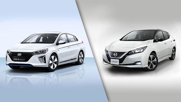 Hyundai IONIQ 2019 vs Nissan Leaf 2019 à Montréal
