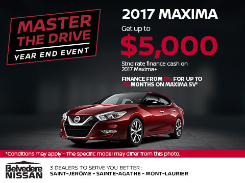 Save Big on the 2017 Maxima Today!