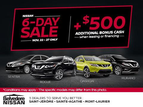 Nissan 6-Day Sale