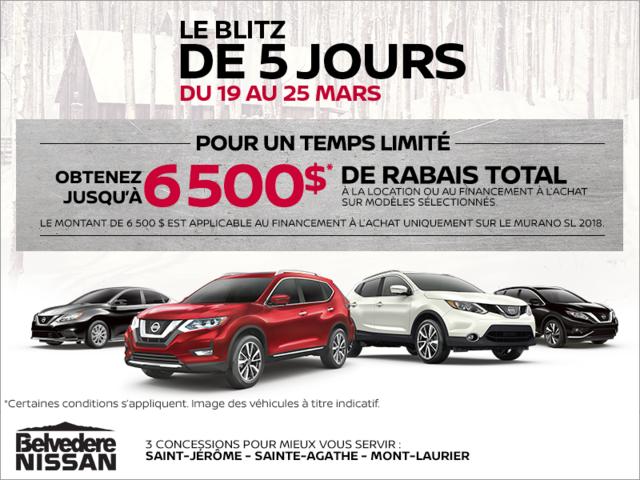 La vente de 5 jours de Nissan!