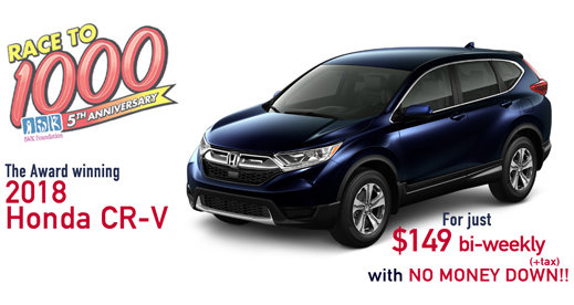 The Award-winning 2018 CR-V for  just $149 bi-weekly