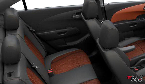 2016 Chevrolet Sonic LT | Photo 2 | Jet Black/Brick Deluxe Cloth