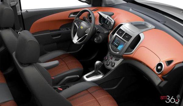 2016 Chevrolet Sonic LT | Photo 1 | Jet Black/Brick Deluxe Cloth