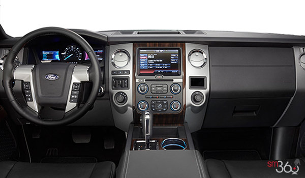 2017 Ford Expedition PLATINUM | Photo 3 | Ebony Leather with perforated inserts and Agate Tuxedo Stripe