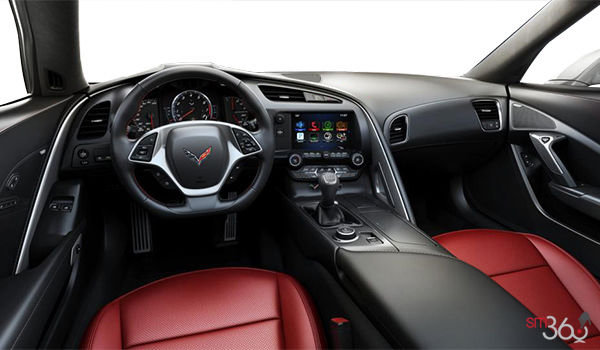 2018 Chevrolet Corvette Convertible Stingray 1LT | Photo 2 | Adrenaline Red GT buckets Perforated Mulan leather seating surfaces (701-AQ9)