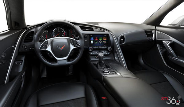 2018 Chevrolet Corvette Convertible Stingray 2LT | Photo 2 | Jet Black GT buckets Leather seating surfaces with sueded microfiber inserts (194-AQ9)