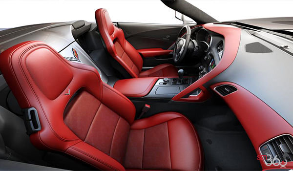 2018 Chevrolet Corvette Convertible Stingray 2LT | Photo 1 | Adrenaline Red GT buckets Leather seating surfaces with sueded microfiber inserts (704-AQ9)